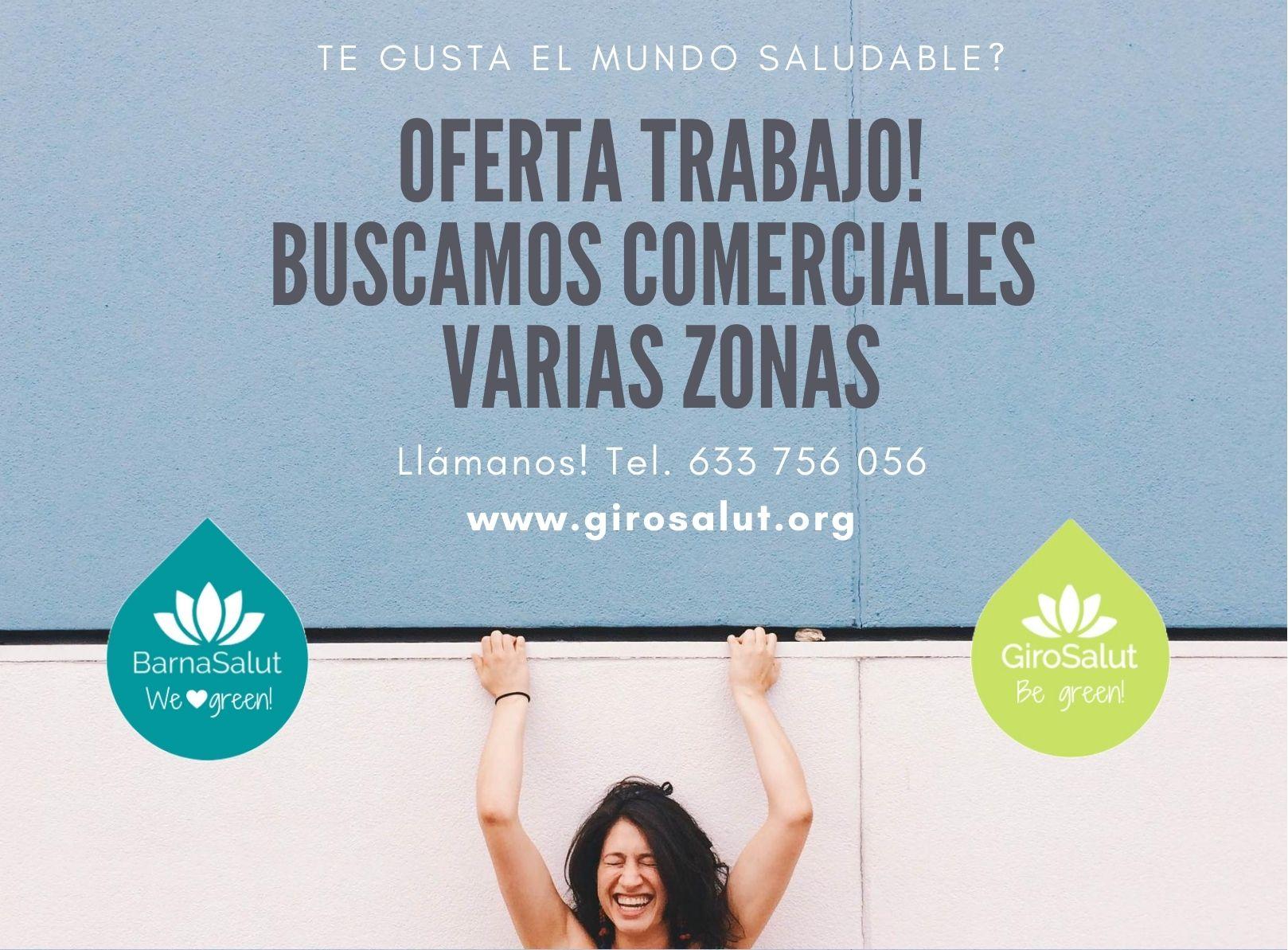 OFERTA DE TRABAJO: ¡BUSCAMOS BIO COMERCIALES!