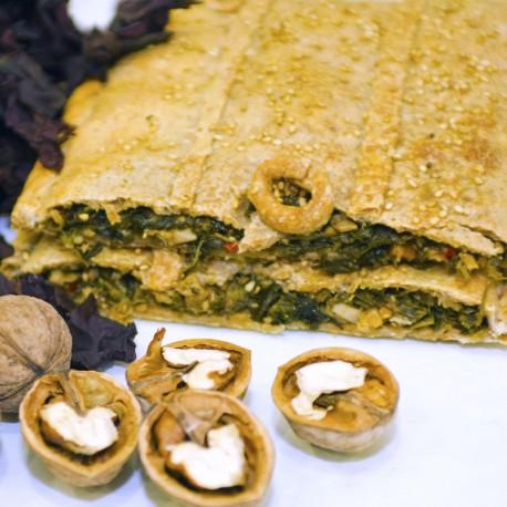 Bio Empanada Vegana de Alga Wakame, Espinacas y Frutos Secos