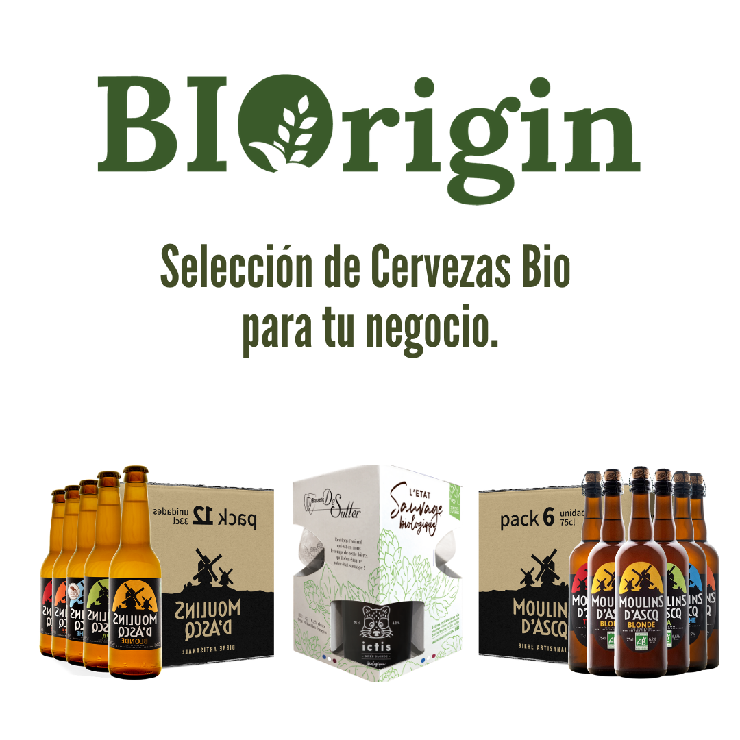 BIORIGIN IBÉRICA. SELECCIÓN DE CERVEZAS BIO PARA TU NEGOCIO